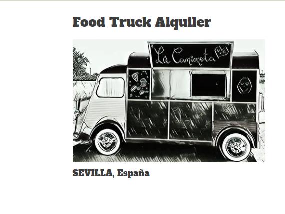 Food Truck Alquiler