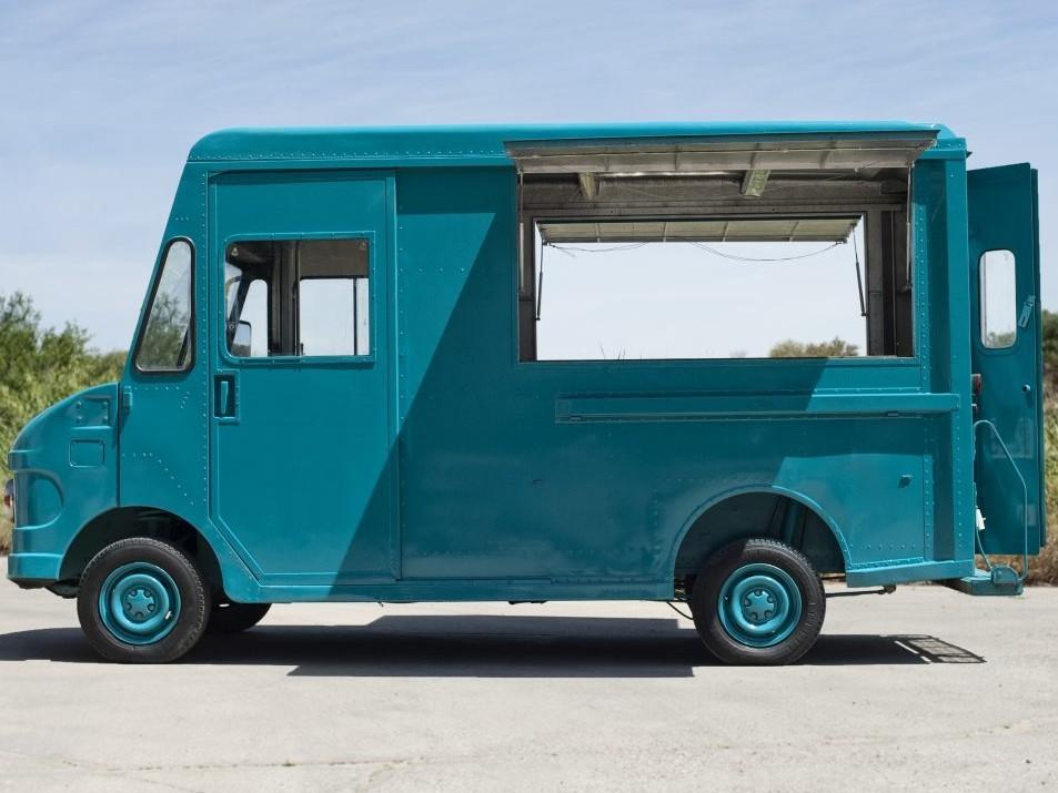 Food truck UPS turquesa